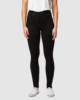 Jeanswest Freeform 360 Contour High Waisted Skinny Jeans Black