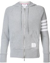 Thom Browne striped sleeve zipped hoodie