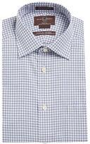 Black Brown 1826 Grid Check Dress Shirt