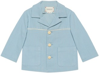 Gucci Baby striped cotton jacket