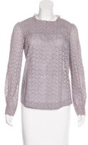 Gerard Darel Eyelet Long Sleeve Top