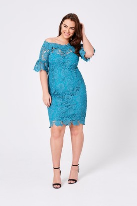 Oasis Paper Dolls Curvy Jade Bardot Dress