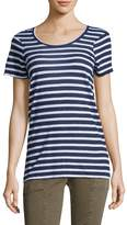 Monrow Women's Stripe Vintage Oversized Shirt