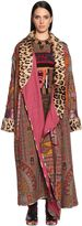 Etro Printed Cool Wool Coat W/ Fur