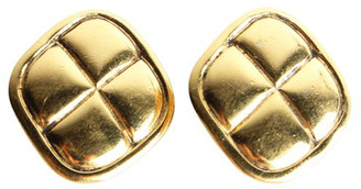 Chanel Gold Plated Metal Clip-on Earrings