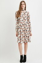 Forever 21 FOREVER 21+ Contemporary Pleated Floral Print Dress