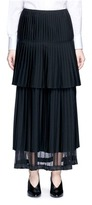 Stella McCartney Layered pleat wool twill maxi skirt
