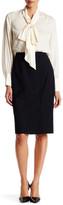 Lands' End Canvas Lands& End Canvas Long Wool Blend Pencil Skirt
