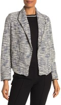 Max Studio Waterfall Tweed Blazer