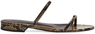Magda Butrym 10mm Snake Skin Thong Sandals