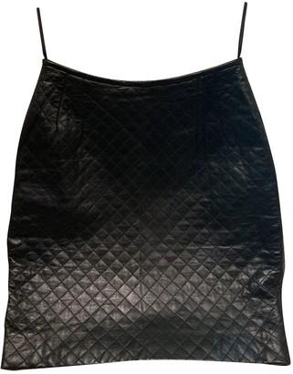 Ungaro Black Leather Skirts