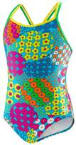 Speedo Big Girls' 1-piece Swimsuit-Happy Flowers
