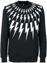 Neil Barrett lightning bolt print sweatshirt