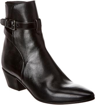 Saint Laurent West Leather Bootie