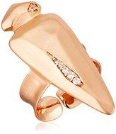 Kendra Scott Sally Rose Gold Metal White Cubic Zirconia Ring, Size 5-7