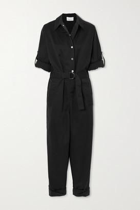 3.1 Phillip Lim Belted Cotton-blend Twill Jumpsuit - Black