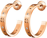 Folli Follie Love&Fortune rose gold-plated hoop earrings
