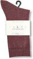 Falke Ladies Black Classic Softmerino Socks