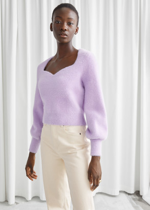And other stories Cropped Sweetheart Neck Sweater