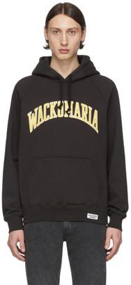Wacko Maria Black Heavyweight Pullover Hoodie