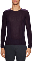 John Varvatos Wide Rib Saddle Shoulder Sweater