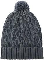 Zanone cable knit bobble hat