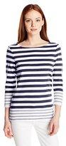 Pendleton Women's Petite Corina Stripe Rib Tee