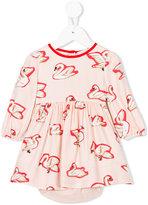 Stella McCartney Fleur swan print dress - kids - Viscose - 6 mth