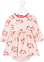 Stella McCartney Fleur swan print dress