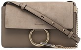 Chloé grey Faye Suede Shoulder Bag