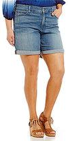 NYDJ Plus Jessica Boyfriend Shorts