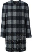 Etro stud-embellished checked coat - women - Wool/Polyamide/Brass/Silk - 40