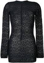 Stella McCartney lace crew neck jumper - women - Polyamide - 44