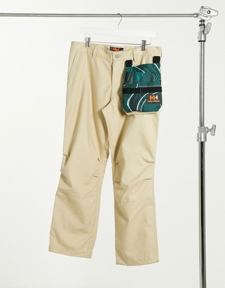 Helly Hansen Heritage unisex zip off trousers in khaki