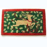 Asstd National Brand Holly Reindeer Rectangle Doormat - 18X30