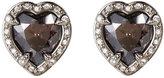 Swarovski Silver-Tone Heart Earrings