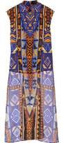 Camilla Printed Silk-Chiffon Top