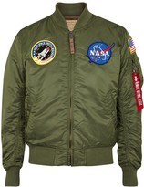 Alpha Industries Nasa Ma-1 Green Shell Bomber Jacket