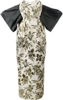 Christian Pellizzari floral print strapless gown - women - Cotton/Polyester/Acetate/Viscose - 40
