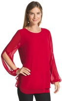 Chico's Double-Layer Amara Red Top