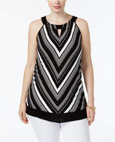 INC International Concepts Plus Size Chevron Halter Top, Created for Macy's