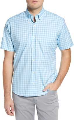 Peter Millar Garrett Regular Fit Check Short Sleeve Button-Down Shirt