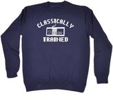 123t Slogans Classically Trained - video game t-shirt gaming tee game top (L - ) SWEATSHIRT