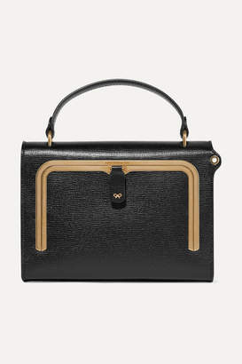Anya Hindmarch Postbox Small Textured-leather Tote - Black