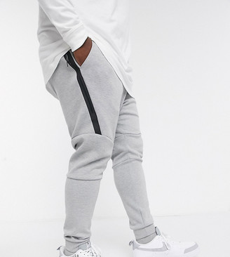 Nike Plus Tech Fleece cuffed jogger in grey