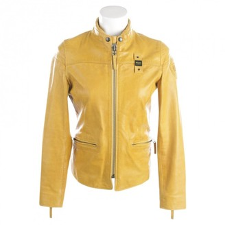 Blauer Yellow Leather Jacket for Women