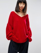 Asos Sweater in Oversized with V Neck