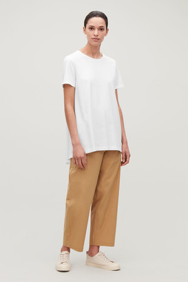 Cos Woven-Back Pleated T-Shirt