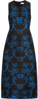 Stella McCartney Angelica Crystal-embellished Floral-jacquard Gown - Black