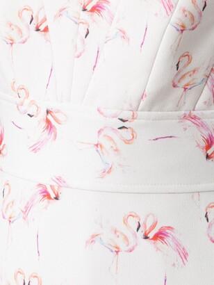 Olympiah Flamingo Print Gown